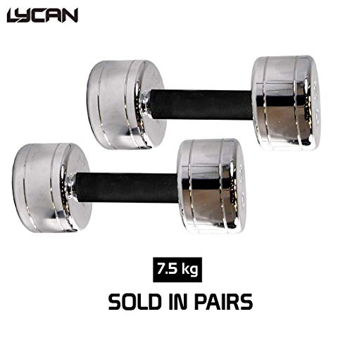 Lycan Chrome Steel Dumbbell with Soft Padded Cushion Set of 2 Price & Reviews