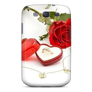 Cute High Quality Galaxy S3 Wedding Ring Rose Case