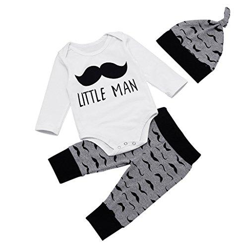 MIOIM Newborn Moustache Rompers Leggings