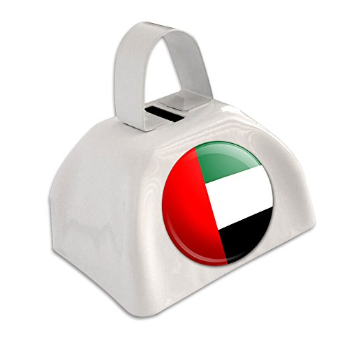 The United Arab Emirates National Country Flag White Cowbell Cow Bell