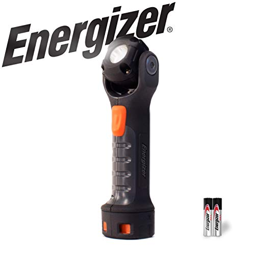 Energizer LED AA Work Light, Hard Case Professional PivotPlus Light, 5 Hour Run Time, 300 Lumens (Batteries - Pivot Head