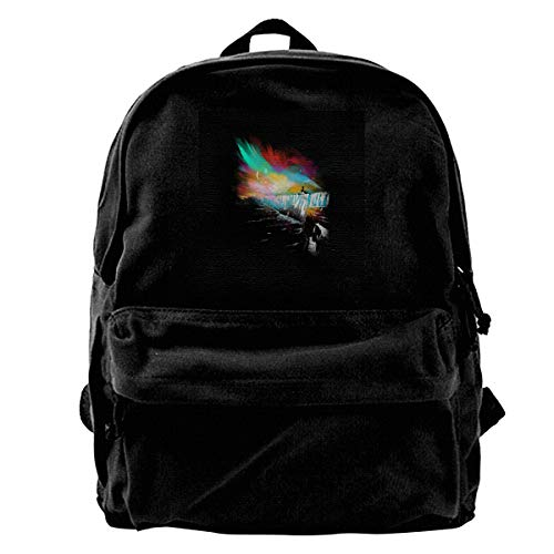 Price comparison product image MIJUGGH Canvas Backpack Sunset On The Wall Game of Thrones Rucksack Gym Hiking Laptop Shoulder Bag Daypack for Men Women