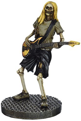 Skull Bass Player Collectible Figurine