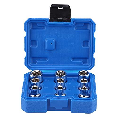 Torx Socket Set, 9Pcs 1/2