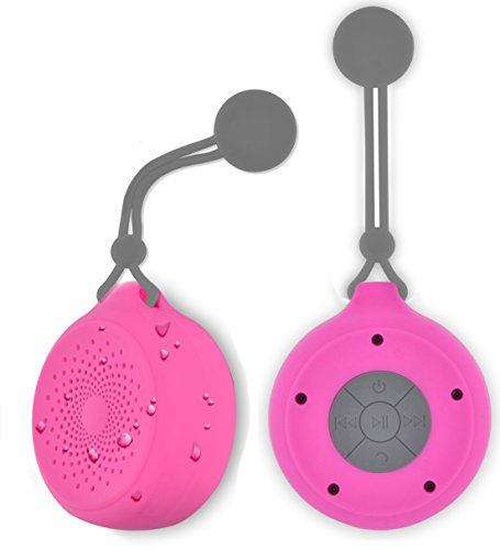 Aduro Shower Speaker AquaSound Waterproof Speakers, Wireless