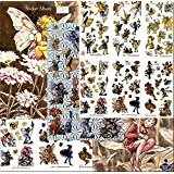 MOTHER'S DAY FLOWER FAIRY 125+ STICKERS LASER CUT STICKERS WITH 2 STICKER ALBUMS INCLUDED. GREAT GIFT FOR KIDS GIRLS CHILD brother, grandparents, aunt, uncle, cousin, grandchildren, grandma, grandpa