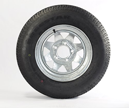 eCustomRim Trailer Tire On Rim ST185/80D13 185/80D-13 13 ST Boat Camper RV Galvanized Spoke