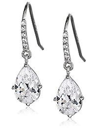 Sterling Silver Swarovski Zirconia Teardrop Earrings