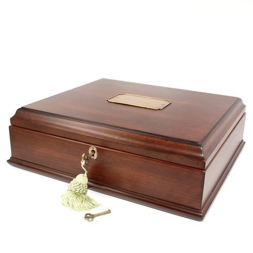 Old World Wooden Treasure Box and memory Box with Brass Latch