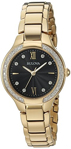 Bulova Women's Quartz and Stainless-Steel Casual Watch, Color:Gold-Toned (Model: 98R222)