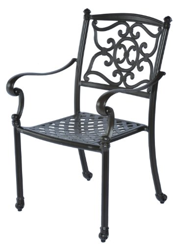 (Meadow Decor 2622-45 Kingston Patio Dining Chair, Black )