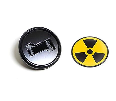 Amazon Gobadges Bkc045 Radiation Magnetic Black Grill Badge