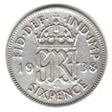 1938 U%2EK%2E Great Britain England Sixp