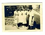 5 Nicely Dressed Young Black Women Group Photograph 1950's