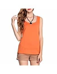 Summer Candy Color Women Sleeveless Halter Neck Chiffon Tops Vests Shirts Chemises