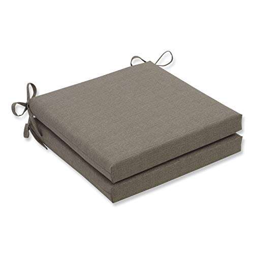 Pillow Perfect Indoor/Outdoor Taupe Textured Solid Square Seat Cushion, 2-Pack ()