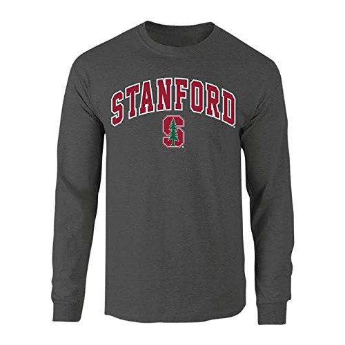 Elite Fan Shop Stanford Cardinals Long Sleeve Tshirt Arch Charcoal - - Shirt Stanford