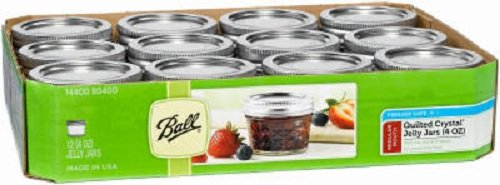 12 Oz Jelly (Ball Mason 4oz Quilted Jelly Jars with Lids and Bands, Set of)