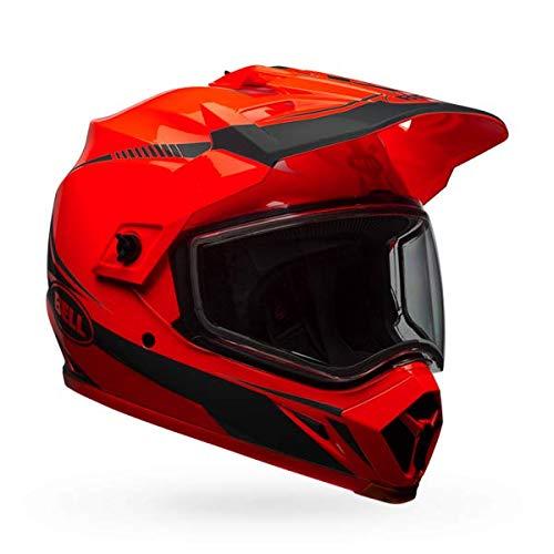 Black Dual Torch - Bell MX 9 Adventure Dual Shield Snow Helmet (Torch Orange/Black, XXXL)
