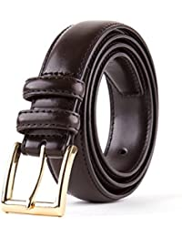 Men's Classic Dress Leather Belt, Black & Brown Colors, Regular Big & Tall Sizes