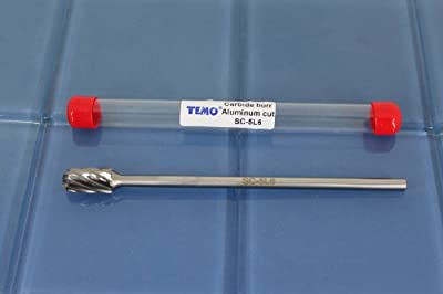 "TEMO SC-5L6 NF Aluminum Cut 7"" L Carbide Burr File 1/4"" Shk 1/2 Head CylindBall 1A2 by Golden Coulee"