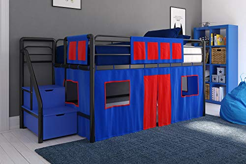 DHP 4314429SET Loft Bed with Slide 1