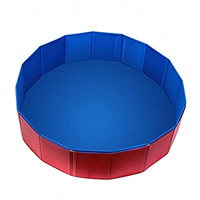 Fuloon PVC Pet Swimming Pool Portable Foldable Pool Dogs Cats Bathing Tub Bathtub Wash Tub Water Pond Pool & Kiddie Pools for kids In the Garden, Park and Beach Kids Play Wash Tub