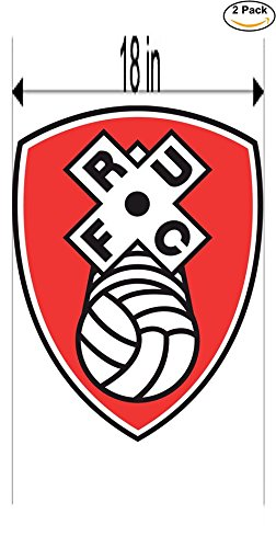 fan products of rotherham united United Kingdom Soccer Football Club FC 2 Stickers Car Bumper Window Sticker Decal Huge 18 inches