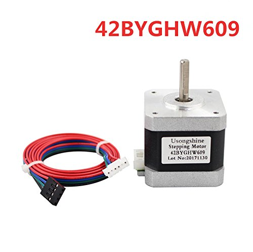 WillBest 1PC 4-Lead Nema 17 Stepper Motor 42BYGHW609 56oz-in 40mm 1.7A CE ROSH ISO CNC Grind Foam Plasma Cut by WillBest