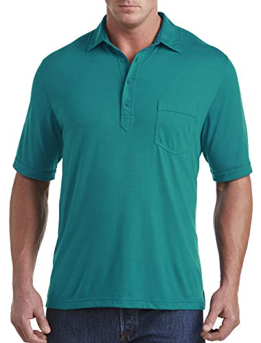 Harbor Bay DXL Big and Tall Golf Polo, Deep Lake Green ()