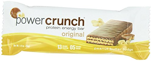 Bionutritional Power Crunch jGNEhIM Protein Energy Bars Peanut Butter Fudge (12 (Bio Protein Bar Peanut Butter)