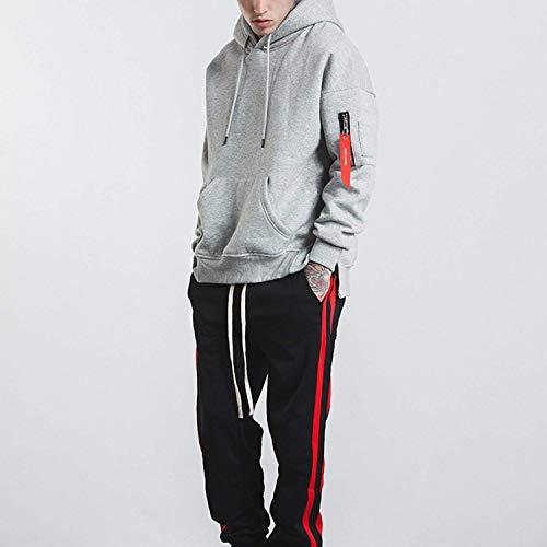 Cappuccio Casuale Con Inverno Uomo Giù Grau Outwear Ntel Caldo Sport Leggero Cime Maglia Giacca Corta 0Oq047