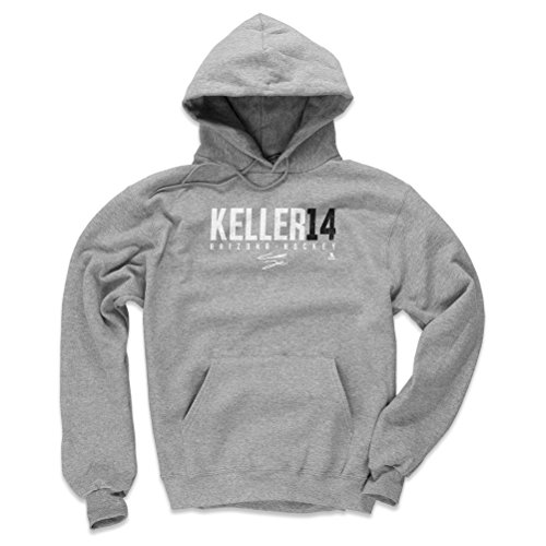 - 500 LEVEL Clayton Keller Arizona Coyotes Hoodie Sweatshirt (X-Large, Gray) - Clayton Keller Keller14 W WHT
