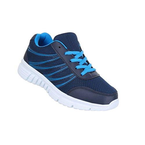Damen Schuhe Freizeitschuhe Turnschuhe Sneaker Blau