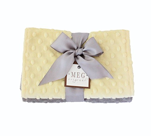 Chenille Bibs Boutique Baby - MEG Original Minky Dot Burp Cloths, Set of Two, Yellow/Gray