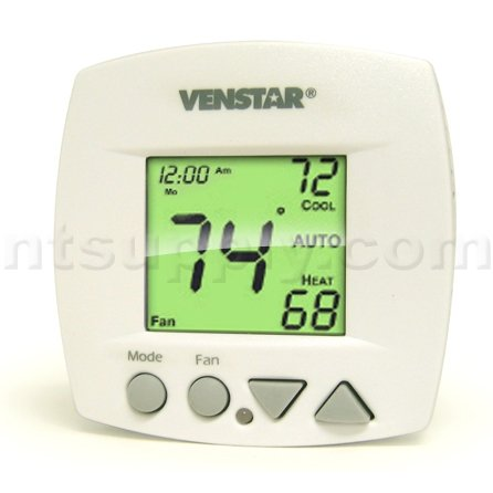 - Venstar T1050 5/2 Day Programmable Thermostat with Small Footprint