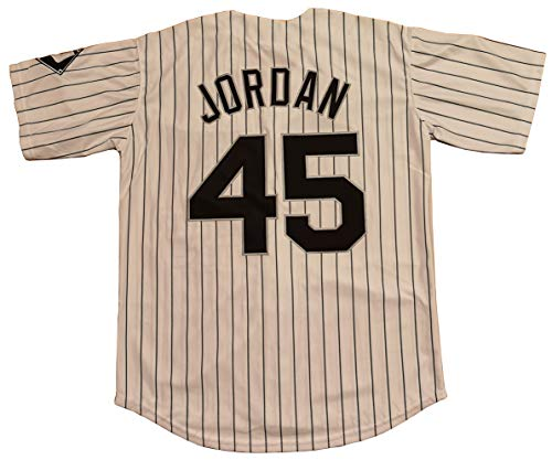 Kooy Jordan #45 Birmingham Barons Baseball Men Jersey Stitched (White_Stripes, Medium)
