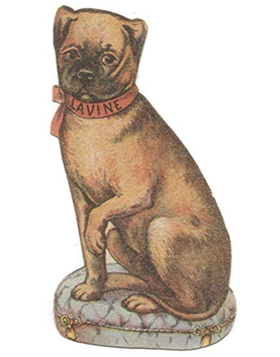 (Antique Lavine Soap Advertising Die-Cut Dog Shaped Victorian Trade Card)