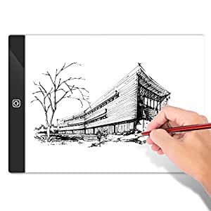 Neewer A4 Ultra-Thin Portable LED Light Box Tracer Non-Dimmable Brightness Artcraft Tracing Light Pad with USB Power Cable for Artists Drawing Sketching Animation Stencilling X-ray Viewing