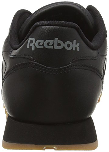 Black Gum Leather Noir Basses Classic Reebok Baskets Femme YwZF6Bq