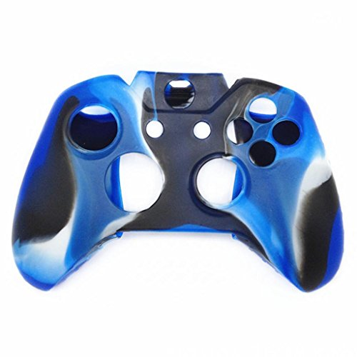 Price comparison product image Clearance !  Ninasill  Exclusive Soft Camouflage Silicone Case Cover For Xbox One Wireless Controller (Blue)