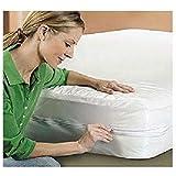Capa Protetora de Colchão Solteiro Impermeável PVC com Zíper Solteiro Branco