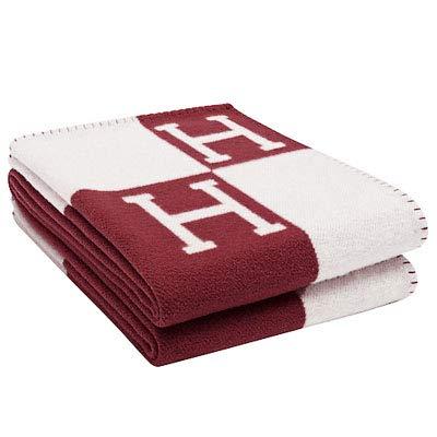 h-blanketウールカシミアニットThrow Blanket forソファ/椅子/Love Seat/車キャンプ毛布ショール 55