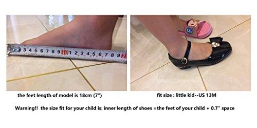 f3e2300dbe0f Flyrioc Girl s Little Heel Ballet Dress Shoes Princess Mary Jane ...