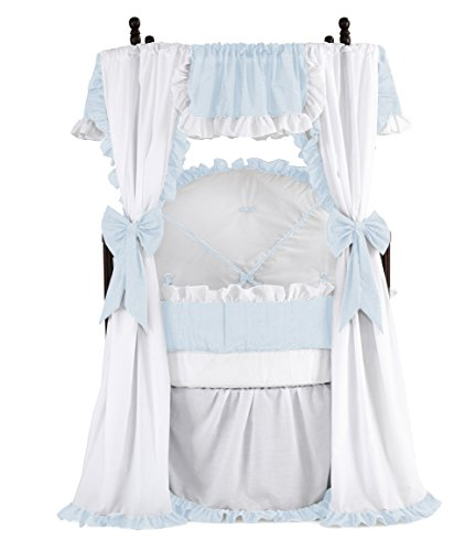 Baby Doll Bedding Darling Round Crib Set, Blue ()