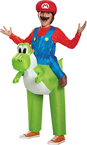 Child's Boys Inflatable Super Mario Brothers Riding Yoshi Costume One (Super Mario Yoshi Costume)