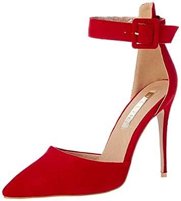 BILLINI Women's Rozalia Shoes, Red Suede, 6 AU/US