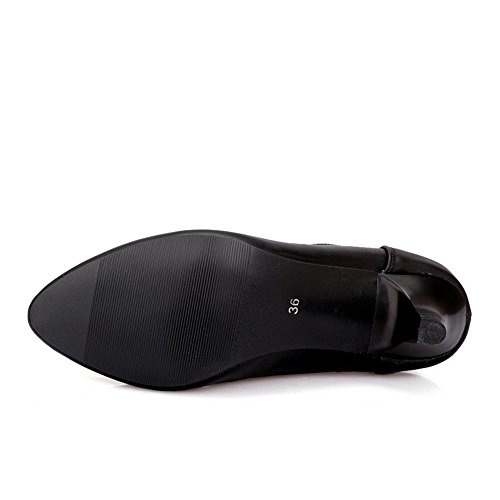 Balamasa Dames Holle Luipaard Patroon Laag Uitgesneden Bovenledens Winkle Pinker Geïmiteerd Lederen Pumps-schoenen Zwart