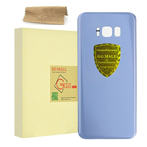 GG MALL Back Glass Battery Door Housing Replacement For Samsung Galaxy S8 All Carriers Rear Glass Cover with Adhesive + Cleaning cloth - Coral - Mall Coral