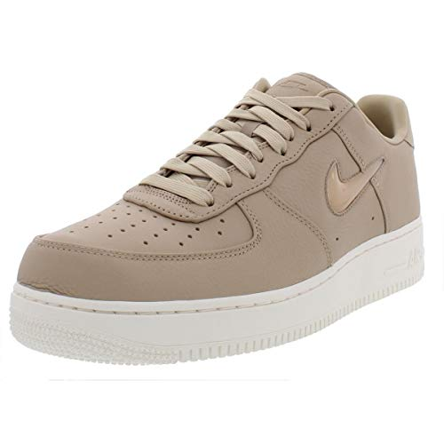 Nike Mens Air Force 1 Retro Premium Leather Fashion Sneakers Tan 11 Medium (D)